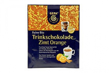 Feine Bio Trinkschokolade Zimt Orange (VE 50)
