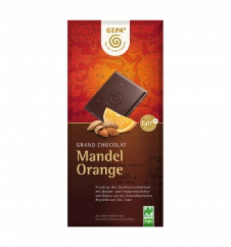 Bio Schokolade Mandel Orange (VE 10)