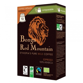 Bonga Red Mountain Espresso, Kapseln, bio°, Naturland Fair (VE 6)