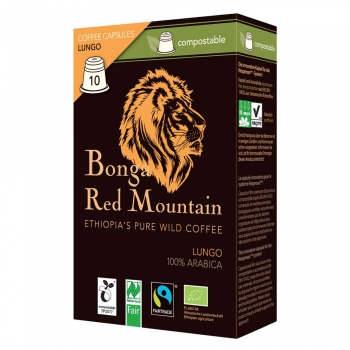 Bonga Red Mountain Lungo, Kapseln, bio°, Naturland Fair (VE 6)