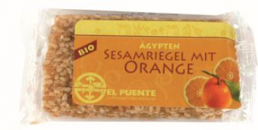 Sesamriegel mit Orange, 3 Riegel à 9 g (VE 12)