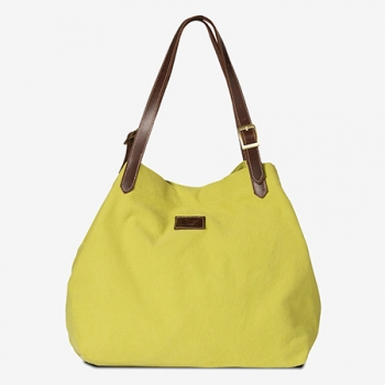 MISS EVERGREEN - Canvas Umhängetasche/Shopper - limette